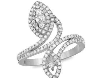 14K, Engagement rings, Wedding rings, Fine Jewelry, Rings, White Gold, Yellow Gold, 18k, Diamond rings, Diamonds, Jewelry, Statement Rings