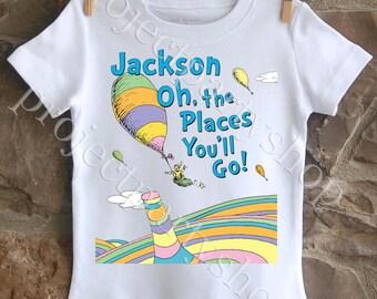 Kindergarten Graduation Shirt, Preschool Graduation Shirt, Boys Graduation Shirt, Dr. Seuss Graduation Shirt