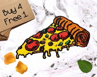 Cute Patches Pizza Patches Iron On Patch Sew On Patch Custom Patches