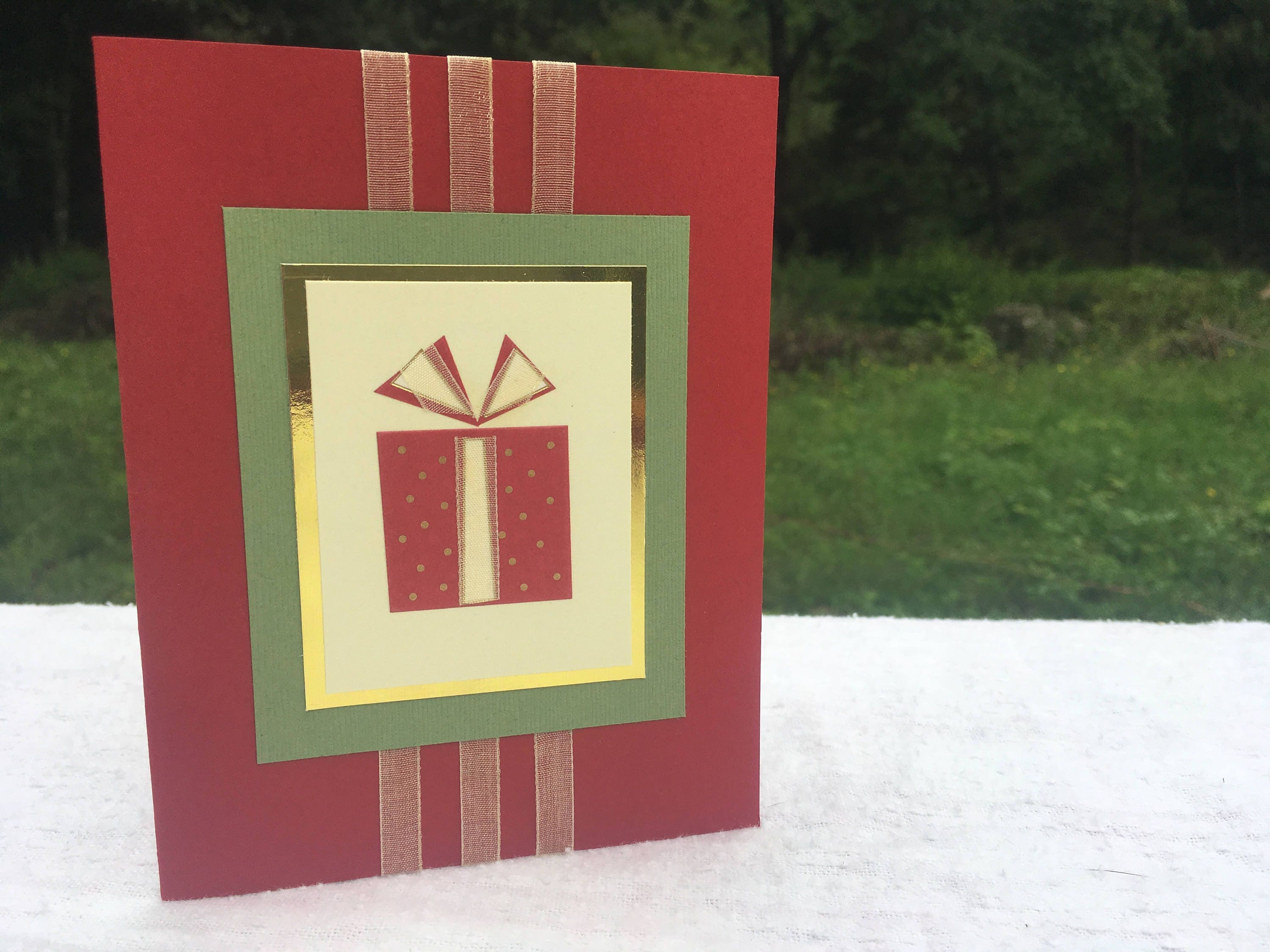 Christmas Handmade Greeting Card Gift For Mom Gift For Dad