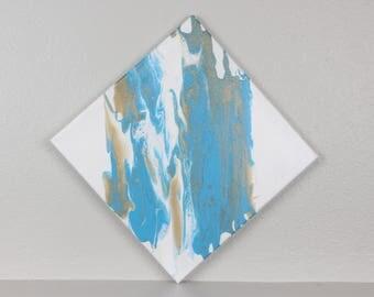 "Acrylic Fluid Painting ""Wing"" 12""x12"""