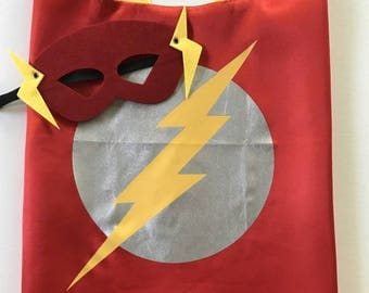 Flash Mask Set, Flash Party, Superhero Party Favors, Superhero Birthday, Flash Cape, Flash Superhero Party, Superhero Party, Flash Costume