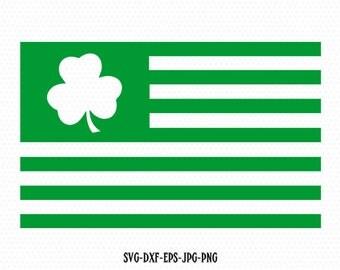 Shamrock usa flag svg, Shamrock SVG, Saint Patrick's DaySvg, Clover SVG, CriCut Files svg jpg png dxf Silhouette cameo