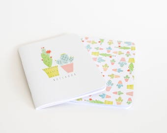 Cacti Notebook Set Yellow A5