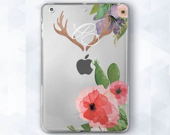 Custom iPad Mini Floral Clear Floral Case Monogram iPad Air Floral iPad Pro 9.7 Floral Hard Case iPad Mini 2 iPad Air Case Monogram iPad Pro