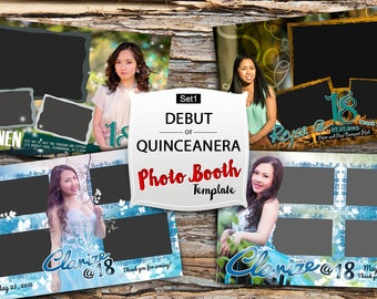 Debut / Quinceanera Photo booth template