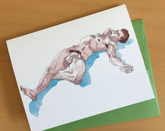 Lost in Thought Blank Greeting Card with Envelope