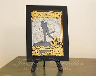 Taking Hold of Love greeting card