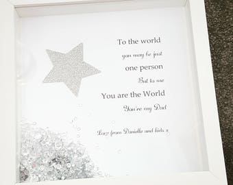 Mothers day/Fathers day frame - choice of quotes