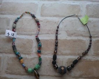 Hand made beaded necklaces