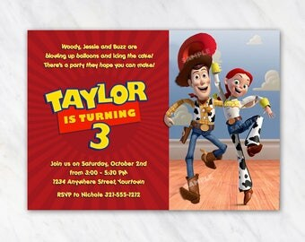 Jessie and Woody Invitation for Birthday Party - Toy Story Invitation - Printable Digital File