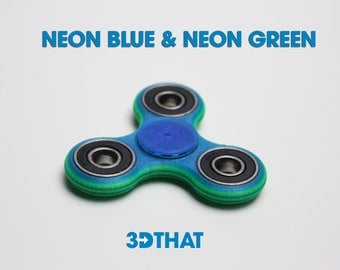 Neon Blue & Neon Green Fidget Spinner