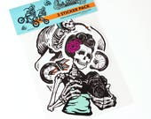 Skeletons Sticker Pack, Day of the Dead stickers, BMX stickers, skateboard stickers, sugar skull stickers, Mexican stickers, Vinyl stickers