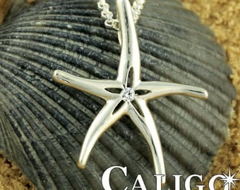 Starfish Necklace - Sterling Silver 925- Pendant