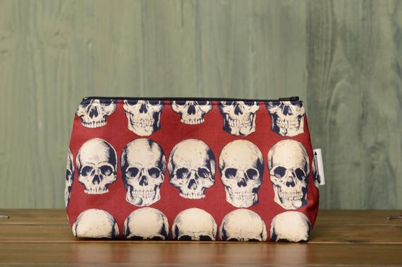 Red skulls large bag