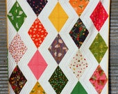 Sleeping Porch Diamonds Modern Baby/Toddler Handmade Quilt