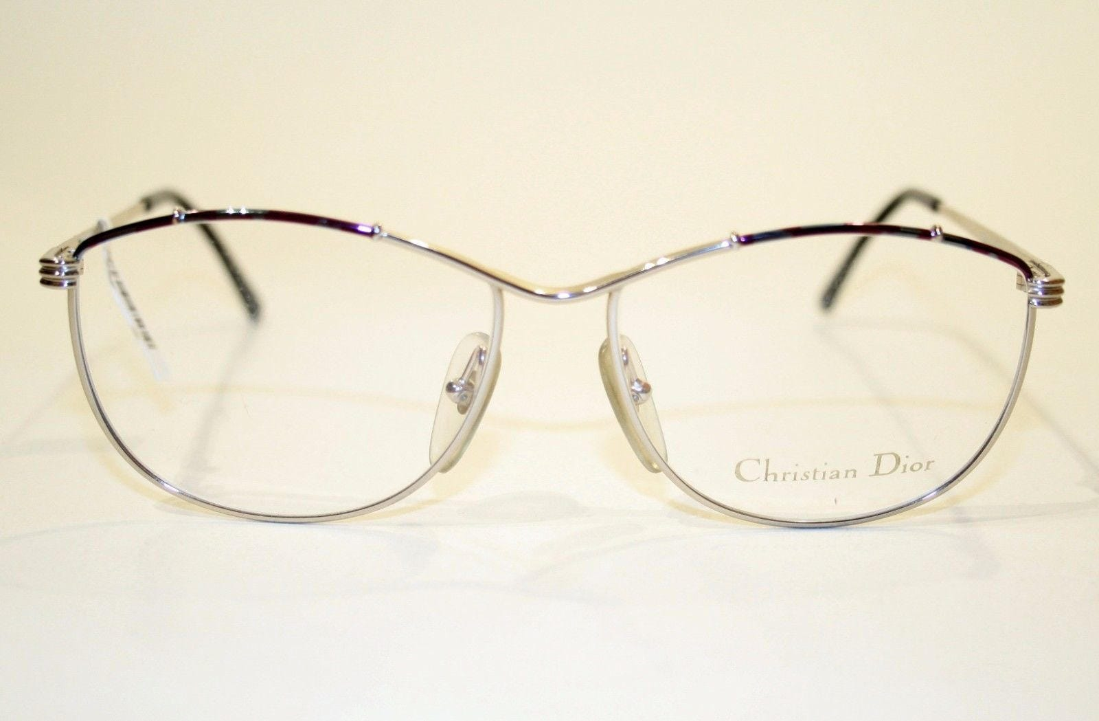 Genuine CHRISTIAN DIOR Vintage 80\'s Eighties Silver with Purple and ...