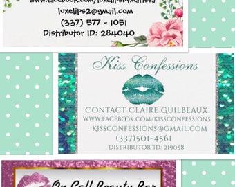 Beauty Book Labels