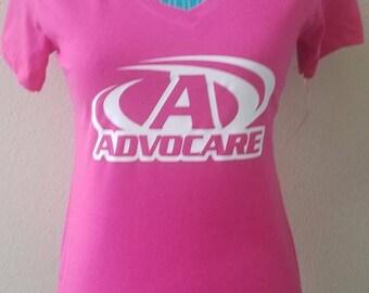 Pink advocare v neck