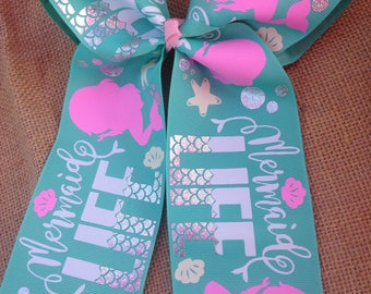 Mermaid Life Cheer Bow