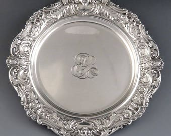 Heavy Antique Turn of the Century Gorham Sterling Silver Small Dish/Plate