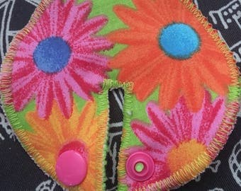 Floral Print Daisy Reusable G Tube Pad Cover