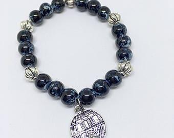 Death Star Beaded Bracelet