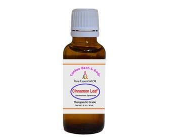 Cinnamon Leaf Essential Oil Therapeutic Grade Free Shipping