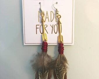 Seminole Feather Earrings