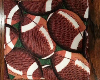Boo Boo Packs, Ouch Pouch, Reuseable Hot or Cold Rice Packs, Kids Ice Pack, Rice Handwarmers, Heating pad, Set of 2, Football Fabric !