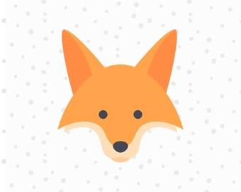 Sale! Cute Fox SVG Cut File - Fox Head svg - Fox Clipart - African Animals SVG - Foxy SVG Files - Cricut Cut Files - Silhouette Cut Files