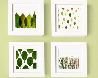 Spring Leaf Series - Set of 4 prints