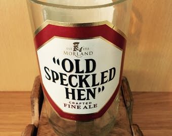 Old Speckled Hen Beer Bottle Soy Wax Candle Filled to Order