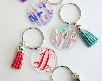 Personalized Tasseled Key Chain