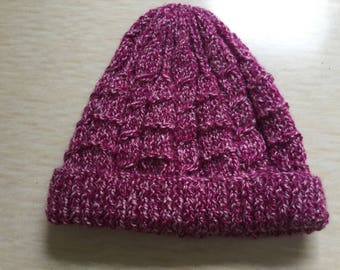 3 hand knitted beanie hats