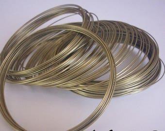 Bracelet in - memory wire - 30 ROUNDS 0.6 mm bronze metal
