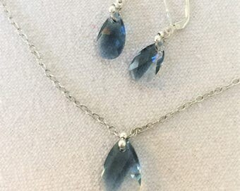 Montana Sky Necklace and Earrings