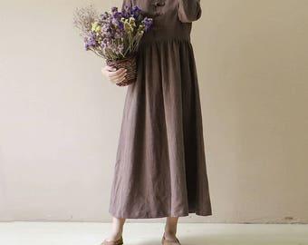 Woman's loose dress cotton and maxi dress,  loose and comfortable Casual dress