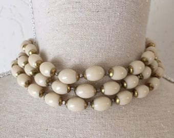 Long Vintage Necklace whit Pearls