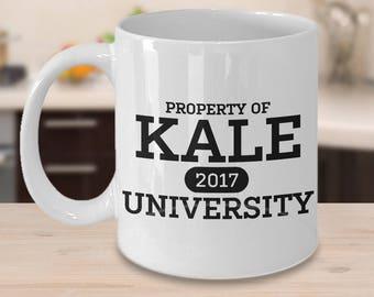 Funny Kale University Vegan Vegetarian Coffee Mug