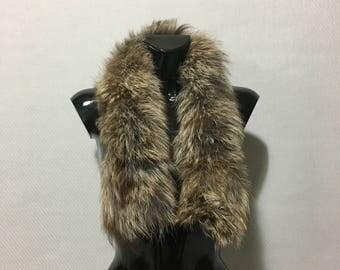 Genuine Real Matilda Color Fox Fur Small Collar