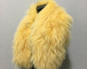 Natural Yellow  Fox Fur Collar