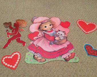 vintage valentine cutout decorations - Vintage Valentine Decorations