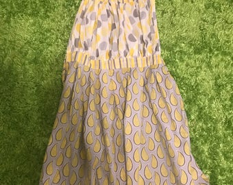 Yellow Gray Apron