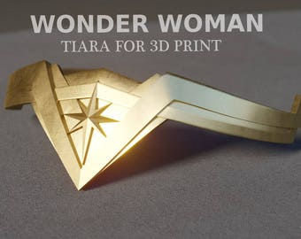 Wonder woman tiara for 3D print