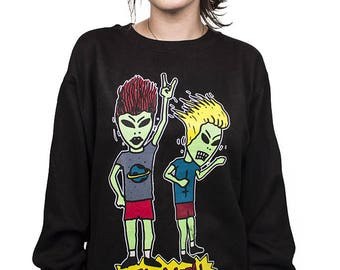 stay metal crewneck sweatshirt