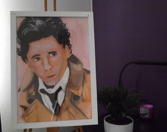 Tom Hiddleston Acrylic Painting