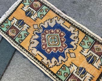 "vintage pastel small rug,Turkish Oushak Rug,1'8""×3'2""ft,Office decor,Home living,Area Rug,Fashion Rug,Small Carpet,"