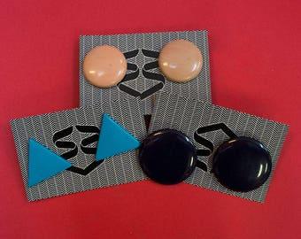 3 pairs of Vintage Clip Earrings