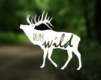DECAL {Run Wild} Vinyl Decal | Phone Decal | Wilderness Decal | Car window Decal | Explore Decal | Car Decal | Laptop Sticker | Laptop Decal